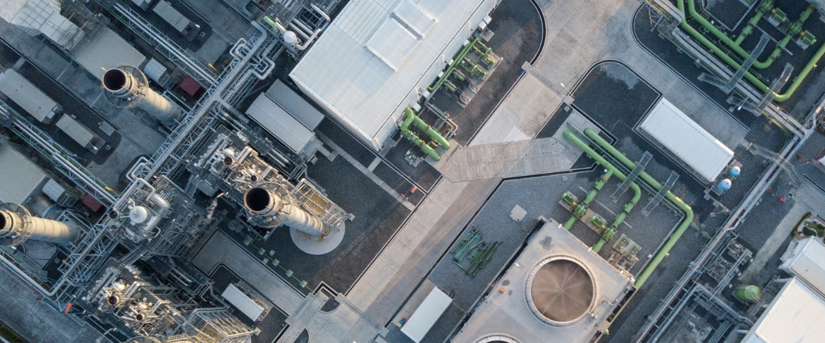 Drone image of an installation