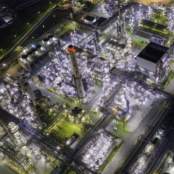 Drone image of refinery